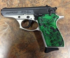 Bersa 380  Love the color but could do without the skulls