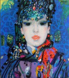 Sakit Mammadov художник Woman Painting, Artist Painting, Mixed Media Art, Mix Media, Science And Nature, World Cultures, Figurative Art, Coco, Modern Art
