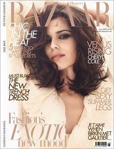 Harper's Bazaar fashion magazine cover Cheryl Cole