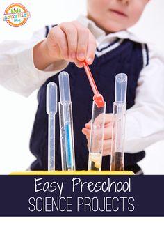 10 Preschool Science Experiments // 10 experimentos de ciencia para niños pequeños.