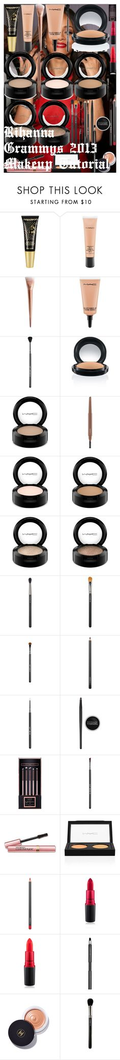 Rihanna Grammys 2013 Makeup Tutorial by oroartye-1 on Polyvore featuring beauty, MAC Cosmetics, Chanel, Sigma, L'Oréal Paris, Maybelline, Napoleon Perdis and Luxie