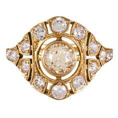 Single Stone Renee Old Mine Cut Diamond Solitaire Ring