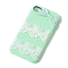 Pearls and Lace iPhone Cover for 4 & 4S | Claire's