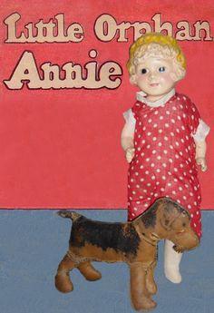 """1934 Freundlich 12"""" Little Orphan Annie & Sandy"""