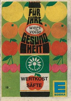 Vintage Edeka Drink Matchbox Advert | Free Flavour