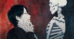 BL,BJD,drawings,and fandoms. Japanese Horror, Japanese Art, Art And Illustration, Ero Guro, Bloodborne Art, Horror Themes, Vegvisir, Horror Art, Art Sketchbook