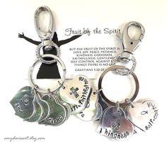 Fruit of the Spirit Keychain Key Fob Purse Charm by AmyDavisArt