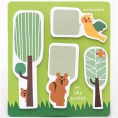 funny animal tree sticky notes bookmark stickers 1