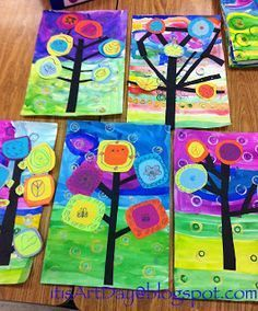 It's Art Day!: Kandinsky Trees Informations About It's Art Day!: Kandinsky Trees Pin You can easily First Grade Art, 2nd Grade Art, Kandinsky Art, Kandinsky For Kids, Ecole Art, Art Lessons Elementary, Elementary Schools, Art Lesson Plans, Art Classroom
