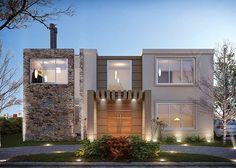 Estudio NF y Asociados Plans Architecture, Modern Architecture House, Architecture Design, Design Your Dream House, Modern House Design, My Dream Home, Village House Design, Modern House Plans, Facade House