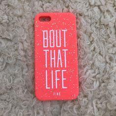 Victoria secret pink iPhone 5/5s case In perfect condition. PINK Victoria's Secret Accessories Phone Cases