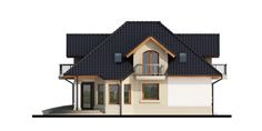 Elewacja DA Dandys 1 G2 CE House Plans, 1, Cabin, Mansions, Architecture, House Styles, Home Decor, Ideas, New Homes