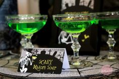 Scary Midori Sours for Halloween