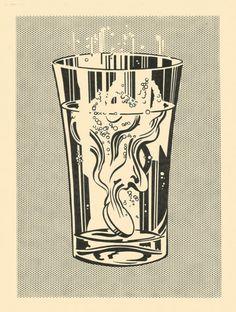 Roy Lichtenstein. Alka Seltzer (1966)
