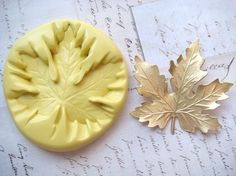 MAPLE LEAF (large) - Flexible Silicone Mold - Crafts, Push Mold, Polymer Clay Mold, Resin Mold, Pmc Mold on Etsy, $9.00