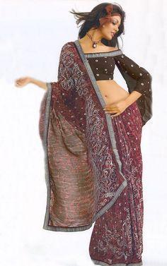 Bohemian Saree   Blouse Ensemble    saree blouse design designer saree