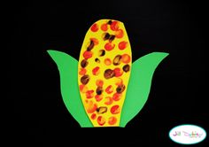 thanksgiving- fingerprint corn on the cob Thanksgiving Art, Thanksgiving Preschool, Thanksgiving Crafts For Kids, Fall Crafts, Holiday Crafts, Holiday Fun, Fall Preschool, Holiday Decorations, Daycare Crafts