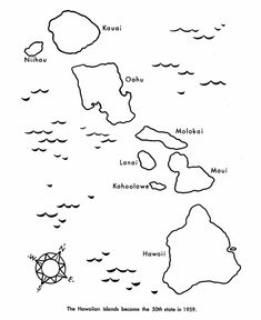USA Printables State Of Hawaii Coloring Pages