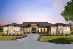 New house plans one story open porches window ideas One Level House Plans, House Plans One Story, One Story Homes, Ranch House Plans, Best House Plans, Dream House Plans, House Floor Plans, Hill Country Homes, Country House Plans