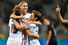 Final Score: #USA 2 x 0 #NZL in women's #football. How about a little celebration now?  #rio2016