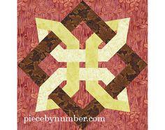 Lugano Clover quilt block paper pieced door PieceByNumberQuilts, $3.50