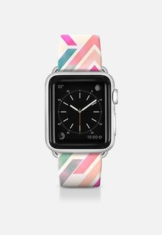Watercolor pink coral turquoise aztec arrows pattern watch Apple Watch Band (38mm) by Girly Trend | Casetify