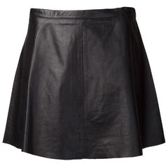 LOVE LEATHER lamb leather skirt found on Polyvore
