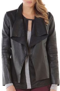 BORDEAUX LEATHER JACKET | BLACK from Stella and Jamie $563