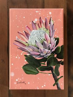 Acrylic Protea on boxed canvas for sale Protea Art, King Protea, Canvas, Diy, Painting, Tela, Bricolage, Painting Art