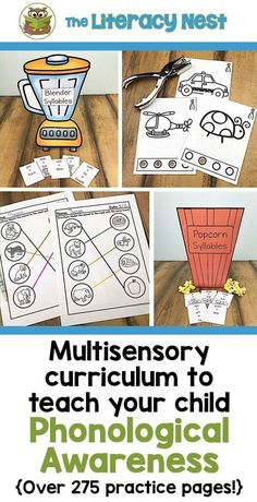 This phonological awareness resource contains a wide variety of multisensory activities to teach phonological awareness with a special emphasis on phonemic awareness. Click here to shop! The Literacy Nest  #ortongillingham #phonologicalawareness Phonological Awareness Activities, Rhyming Activities, Phonics Activities, Kindergarten Activities, Preschool Special Education, Teaching Techniques, Teaching Reading, Reading Fluency, Reading Intervention
