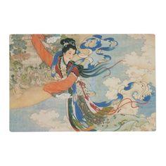 Chinese Moon Goddess laminated placemat
