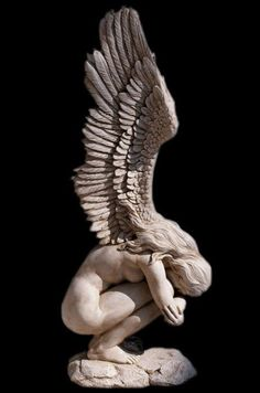 Modern Winged Athletic Nude Naked Female Girl Angel Sculpture - Modern Winged Nude Female Angel Sculptures Statues In The Exquisite Sculptural Style Of The Mid Th Century Masters Artist Jaimy Has Captured Every Detail Of This Powerfully Emotional Angel Fr Stone Sculpture, Sculpture Clay, Abstract Sculpture, Modern Sculpture, Outdoor Sculpture, Abstract Art, Renaissance Kunst, Traditional Sculptures, Sculpture Projects