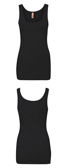 Next Level womens Next Level The Jersey Tank(3533)-BLACK-