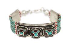 Boho Turquoise Bracelet, Coral Bracelet, Handmade Bracelet