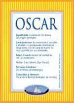 Nombre Oscar