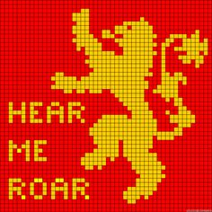 House Lannister - Game of Thrones Perler Bead Pattern
