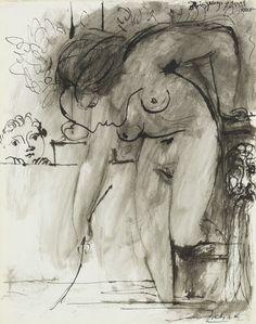 """kundst: """" Pablo Picasso: Femme au bain (1933) """""""