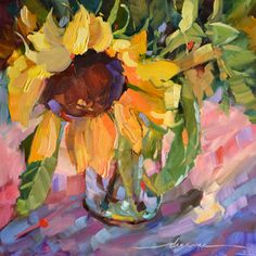Sabbath Song Sunflower, painting by artist Dreama Tolle Perry Wall Art Prints, Fine Art Prints, Framed Prints, Canvas Prints, Sunflower Canvas, Sunflower Paintings, Unique Wall Art, Small Paintings, Canvas Art