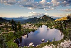 Mt. Shasta and Heart Lake, California
