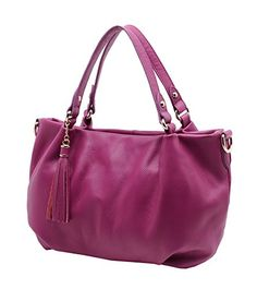 Heshe Casual Simple Hobo Style Shoulder Bag Cross Body Tote Bags Satchel Handbags and Purses for Women Messenger Bag Violet *** Want to know more, click on the image.