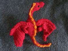 Ravelry: Little Wyvern (Dragon) pattern by Lepida Amaratha Crochet Monsters, Crochet Animals, Crochet Toys, Free Crochet, Knit Crochet, Chrochet, Amigurumi Patterns, Crochet Patterns, Crochet Ideas