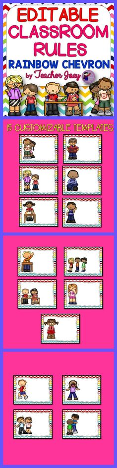 Classroom Rules Editable #teacherspayteachers