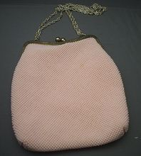 Pink 50s Beaded Plastic Purse