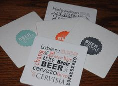 Should you need customised drink coasters for your party or hospitality needs, please contact me, we got the materials!