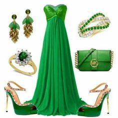 Gorjus emerald green bling n dress.n fab LouBoutins ! Beautiful Outfits, Cool Outfits, Fashion Outfits, Womens Fashion, Bleu Turquoise, What To Wear Today, Dressy Dresses, Glitz And Glam, Hot Dress