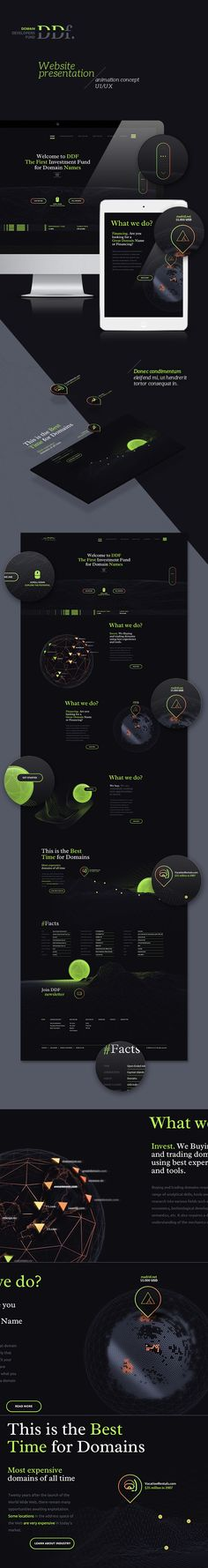 Domain Developers Fund dark version concept by Elastika, via Behance