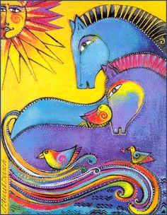 """""""Mythical Horses"""" par Laurel Burch                                                                                                                                                                                 More"""