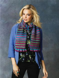 Made with only 2 skeins of yarn... Red Heart Boutique-Unforgettable A-Petunia B.Tidal