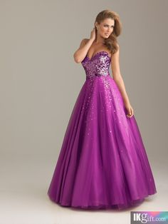 Ball Gown Sweetheart Organza and Sequins Long Prom Dress