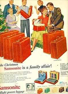 A 1953 Samsonite Print Advertisement.